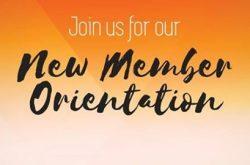 New Members Orientation Meeting